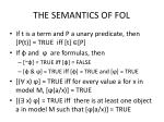 the semantics of fol1