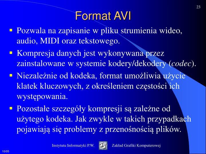 Format AVI