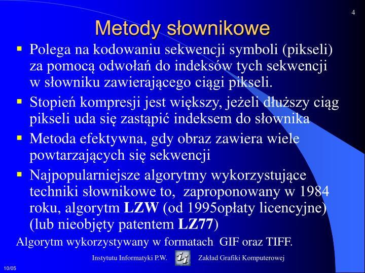 Metody słownikowe