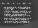 macroeconom a y microeconom a