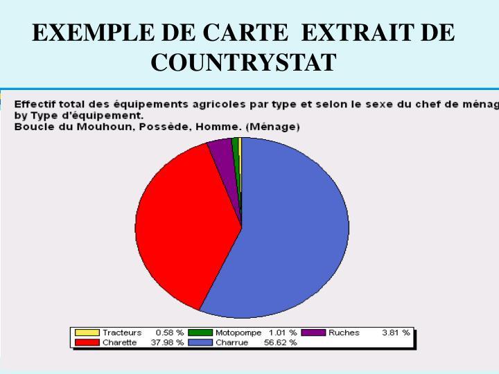 EXEMPLE DE CARTE  EXTRAIT DE COUNTRYSTAT