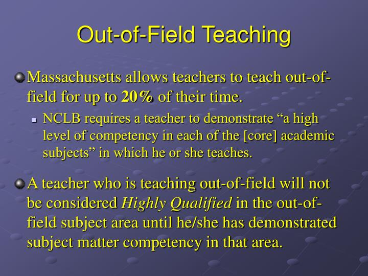 Out-of-Field Teaching