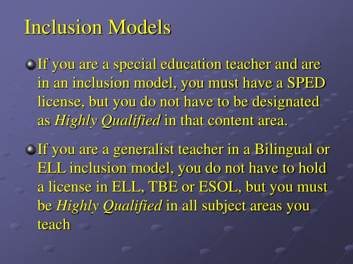 Inclusion Models