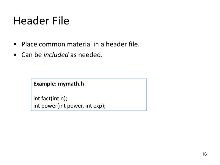 Header File