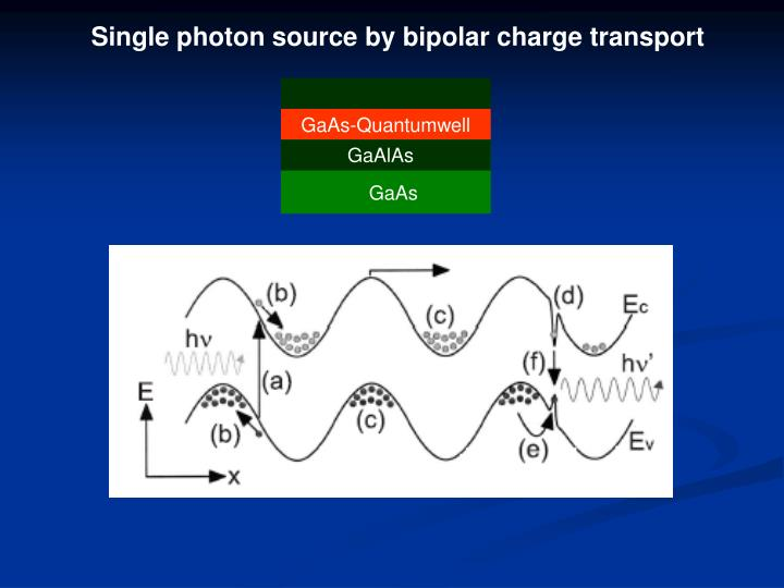 Single photon source by bipolar charge transport