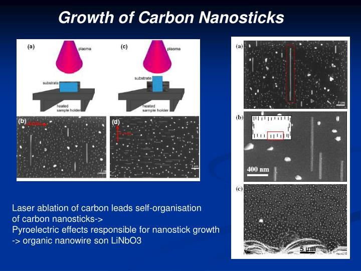 Growth of Carbon Nanosticks
