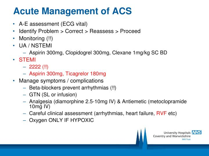Acute Management of ACS