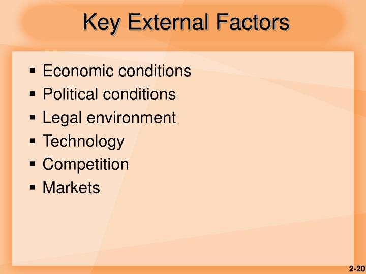 Key External Factors