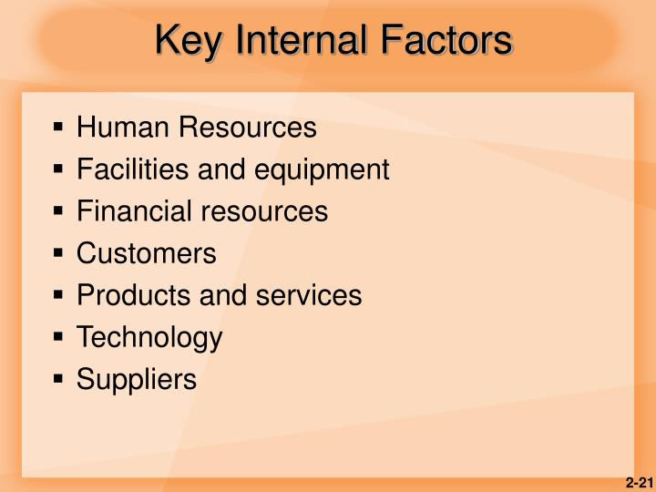 Key Internal Factors
