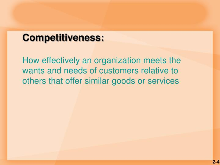 Competitiveness: