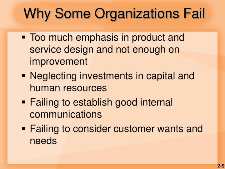 Why Some Organizations Fail