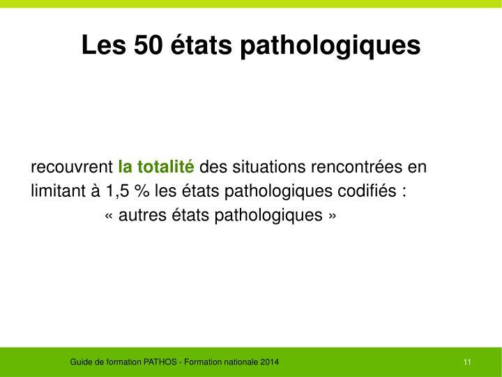 Les 50 états pathologiques