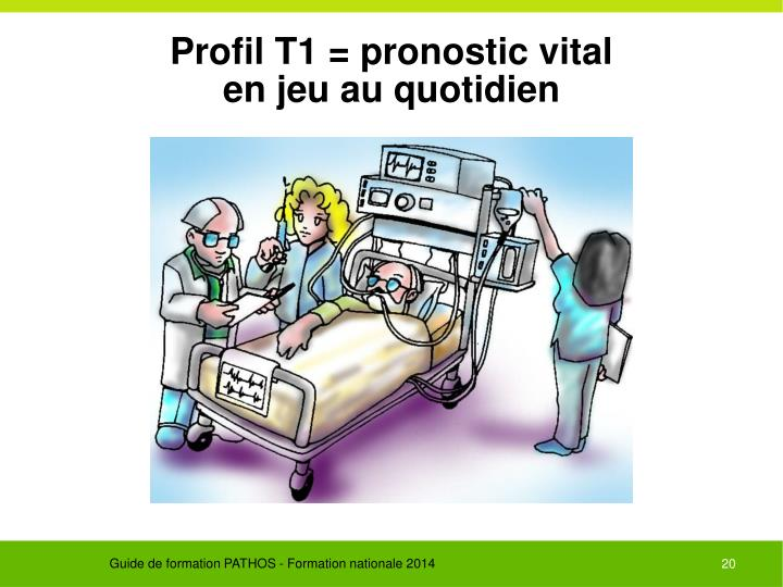 Profil T1 = pronostic vital