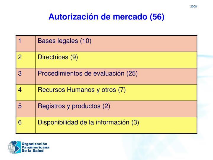 Autorización de mercado (56)