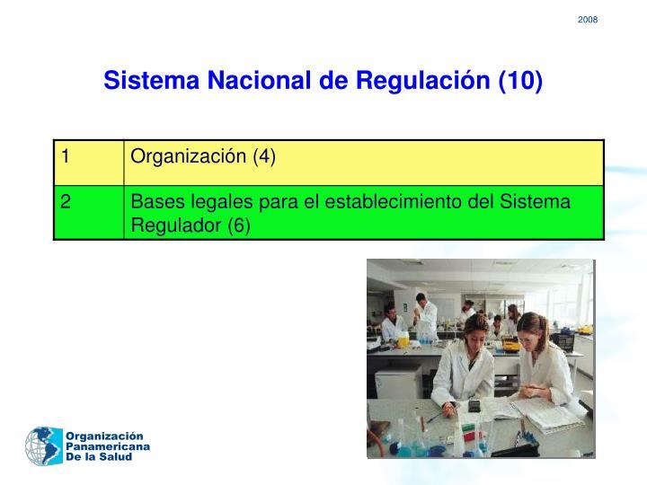 Sistema Nacional de Regulación (10)
