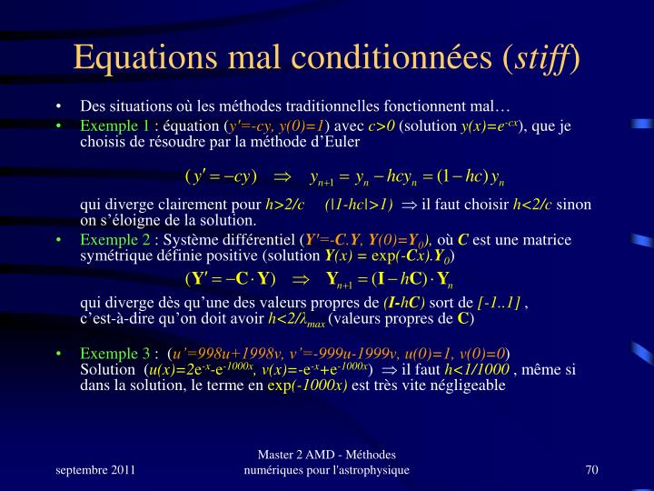 Equations mal conditionnées (