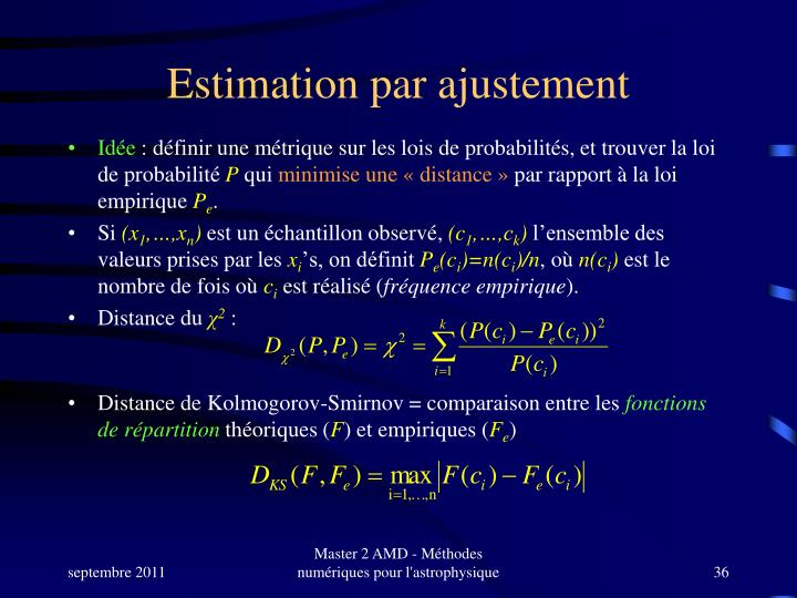 Estimation par ajustement