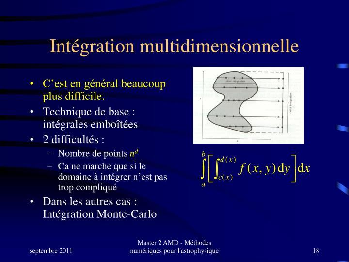 Intégration multidimensionnelle