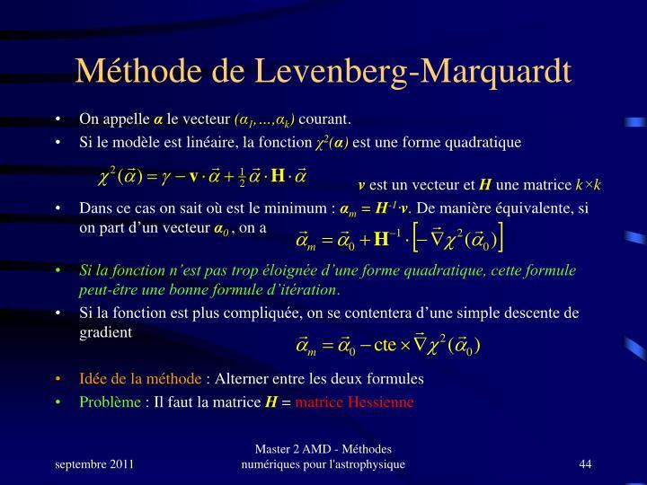 Méthode de Levenberg-Marquardt