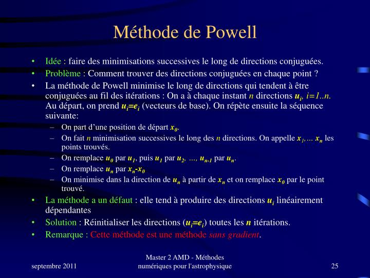 Méthode de Powell