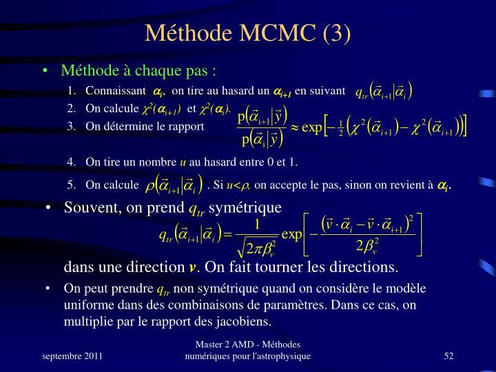 Méthode MCMC (3)