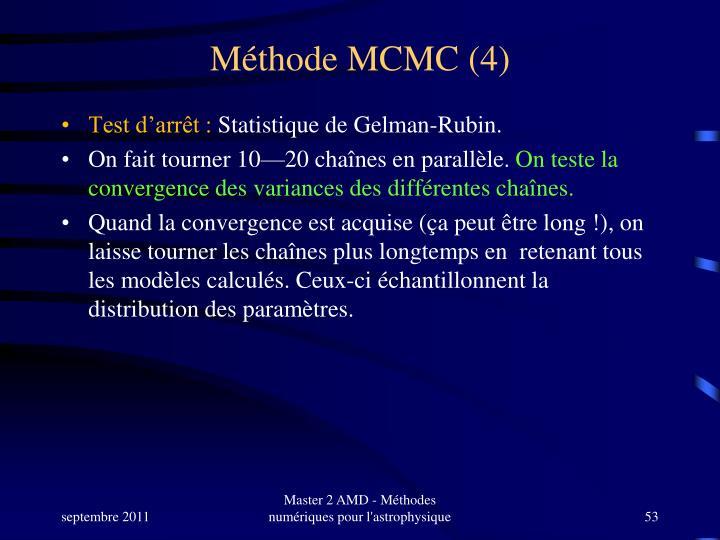 Méthode MCMC (4)