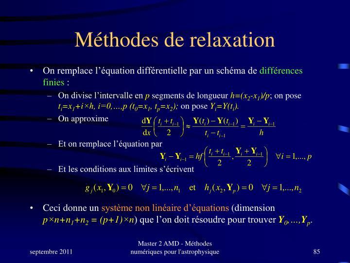 Méthodes de relaxation