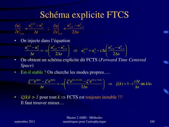 Schéma explicite FTCS
