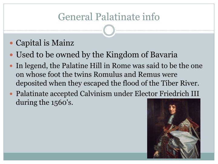 General Palatinate info
