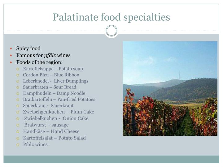 Palatinate food specialties