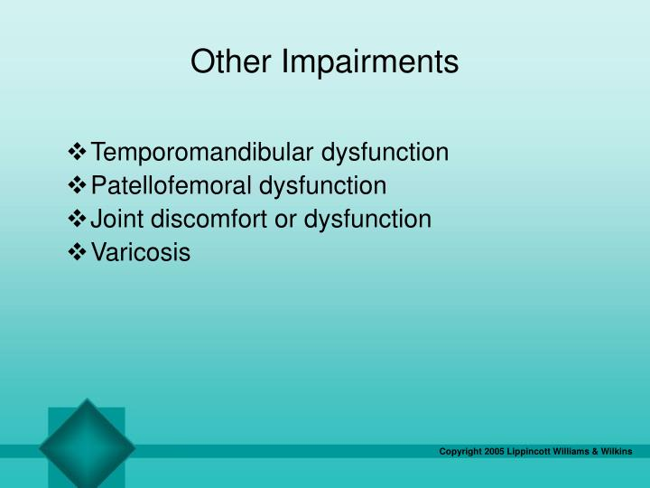 Other Impairments