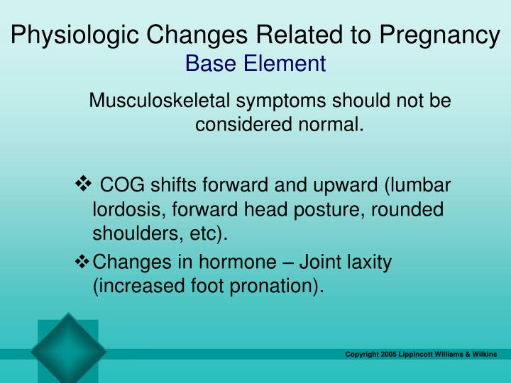 Physiologic Changes Related to Pregnancy