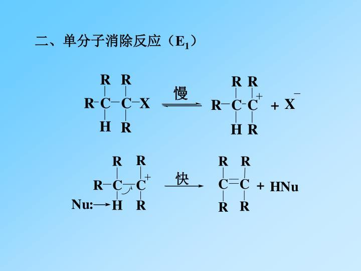 二、单分子消除反应(