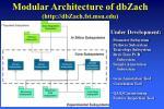 modular architecture of dbzach http dbzach fst msu edu