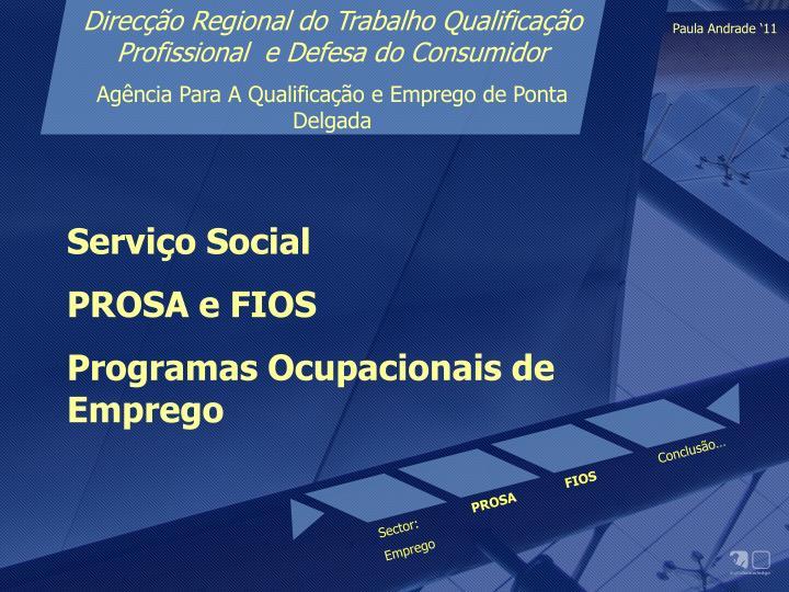 Direcção Regional do Trabalho Qualificação Profissional  e Defesa do Consumidor
