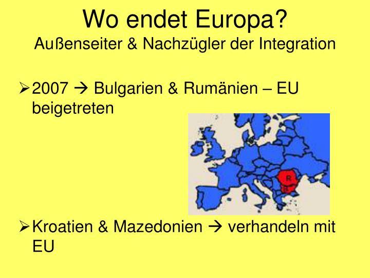 Wo endet Europa?