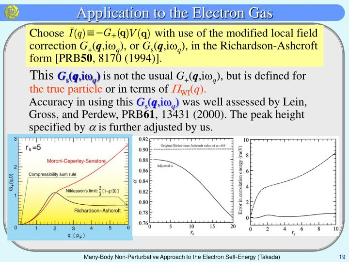 Application to the Electron Gas