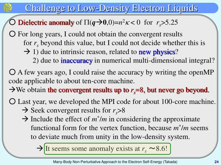 Challenge to Low-Density Electron Liquids
