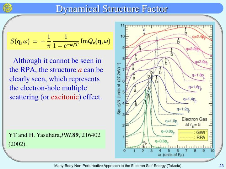 Dynamical Structure Factor