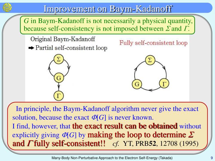 Improvement on Baym-Kadanoff