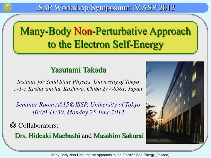 Issp workshop symposium masp 2012