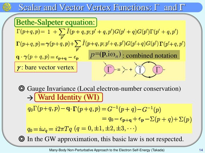 Scalar and Vector Vertex Functions: