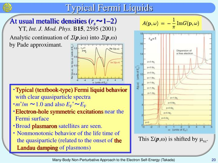 Typical Fermi Liquids
