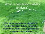 what is population viability analysis