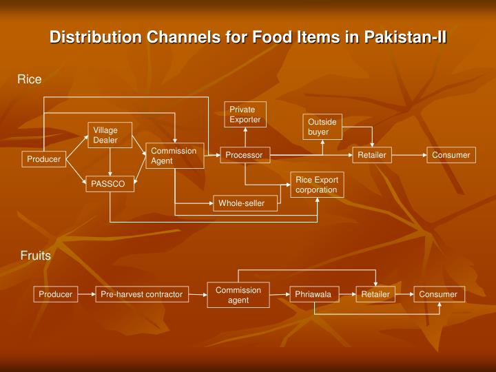 Distribution Channels for Food Items in Pakistan-II