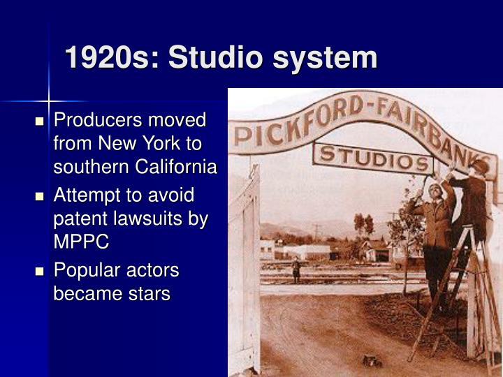 1920s: Studio system