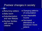 postwar changes in society