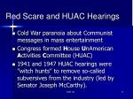 red scare and huac hearings