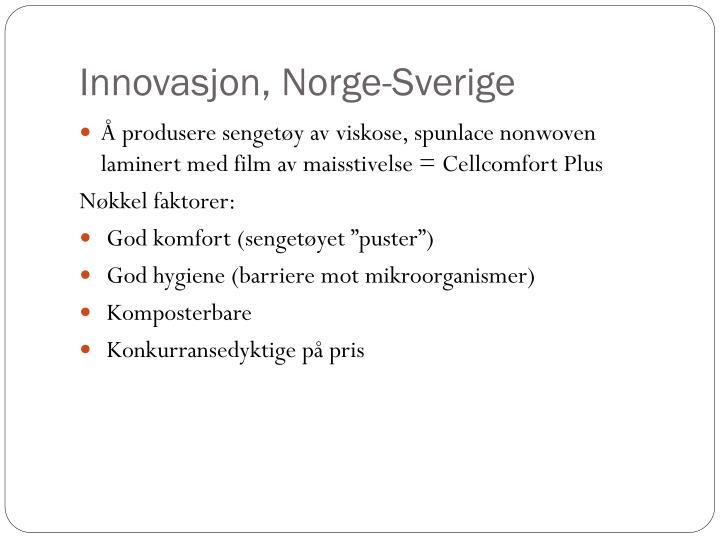 Innovasjon, Norge-Sverige