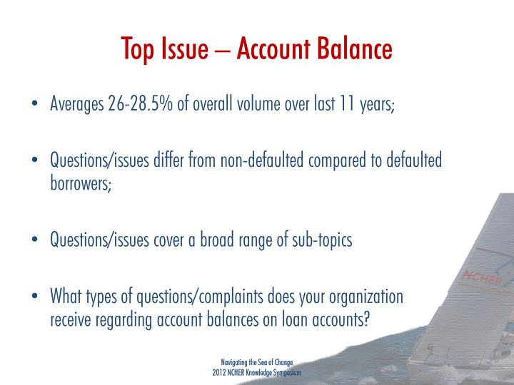 Top Issue – Account Balance